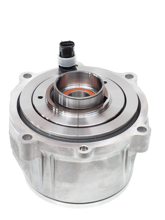 electromagnetic clutch to connect the differential to the drive shaft and transmitting the rotation from the transmission to the wheels of the machine