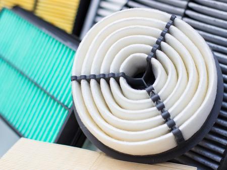 papel filtro: composición de los filtros de aire para el motor de un coche