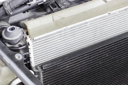 car radiator on a car