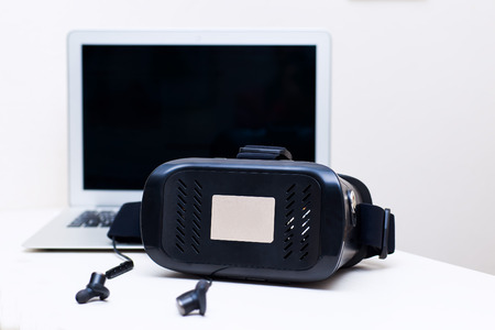 simulations: Virtual reality headset for smart phone Stock Photo