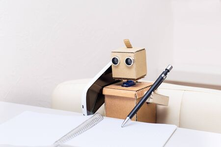 Robot talking on the phone