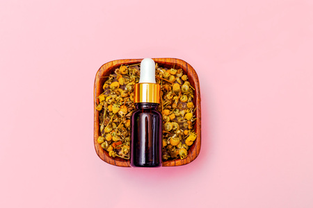 Dry chamomile and  serum. Naturale skincare