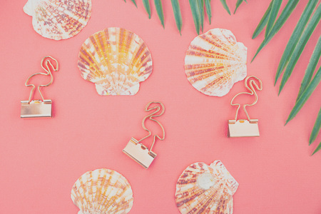 Summer background. Living Coral paper background. Color of the year 2019