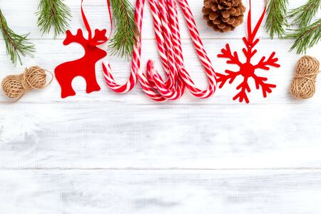 Christmas accessories. Christmas background