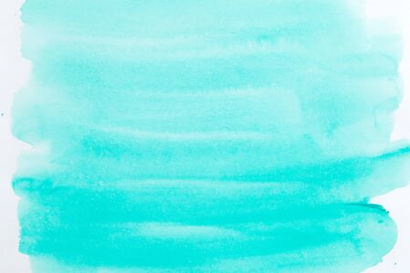 Watercolor background mint color. Abstraction
