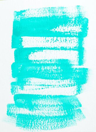Neon mint color  watercolor paint strokes. Watercolor background. Vertical 写真素材