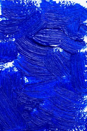Blue color 2020. Oil paint strokes. Art background. Vertical