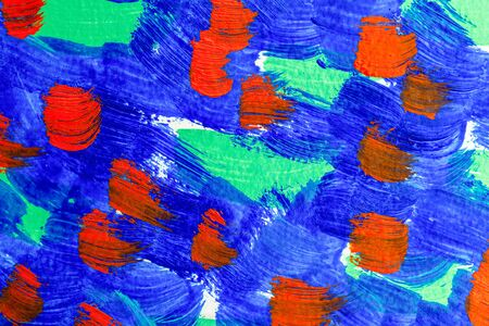 Aqua Menthe; Classia blue, Lush Lava, color 2020. Abstraction. Paint strokes. Art background