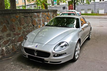 Kiev, Ukraine; April 10, 2014. Maserati Coupe 4.2 V8. Editorial photo.