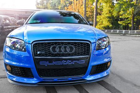 3 September 2013. Ukraine. Kiev. Audi RS4 4.2 TFSI carbon package. Editorial photo.