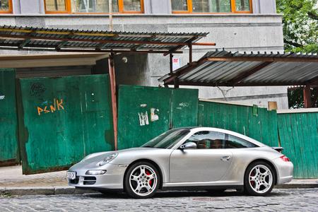 Kiev, Ukraine; September 5, 2015; Porsche 911 Targa 4S. Editorial photo.