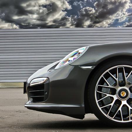 Kiev Ukraine October 17 2016 Porsche 911 Turbo S 991 2016