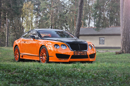 Kiev Ukraine April 10 2015 Bentley Continental Gt Mansory
