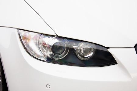 Car headlights. Luxury Headlights 스톡 콘텐츠