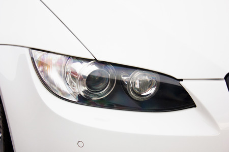 Car headlights. Luxury Headlights Banque d'images