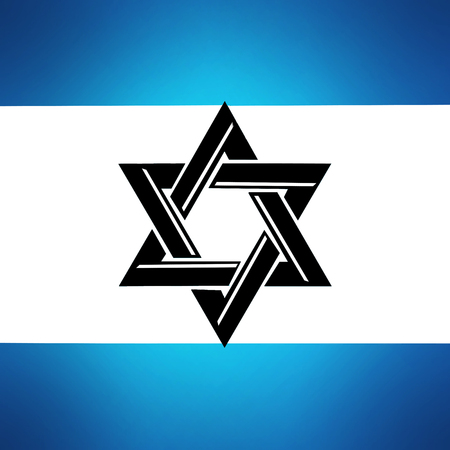 Star of David. Blue Star of David on a white background. Israel Country flag