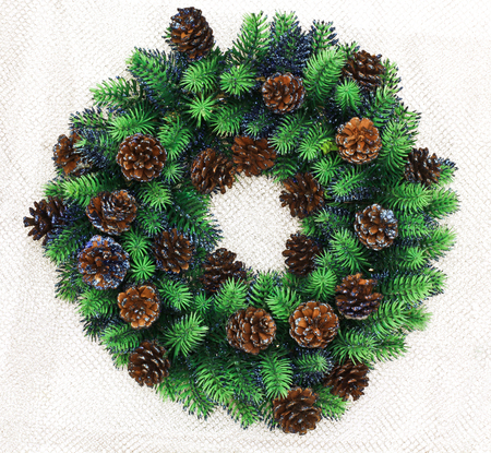 New Year card. New Year's wreath