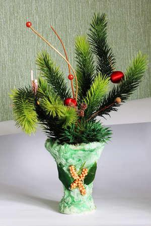 christmas vase Stock Photo