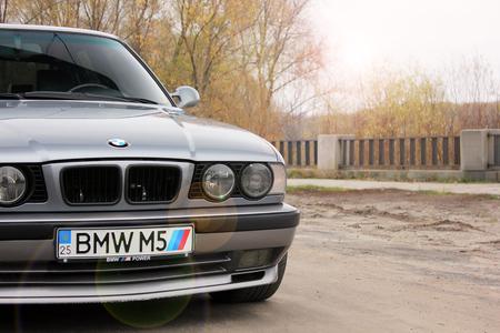 Chernigov, Ukraine - November 8, 2017. BMW M5 (E34) with the numbers