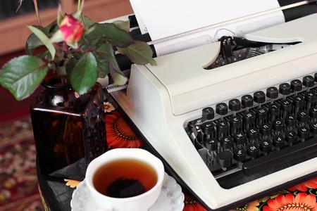 Typewriter. Vintage things.