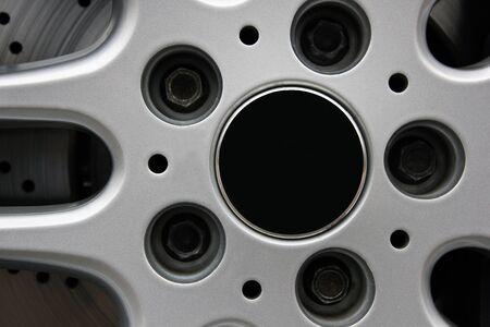 Car wheel close-up
