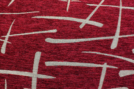 Background of fabric. Texture. Red and gold Archivio Fotografico