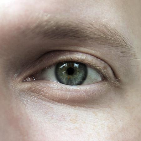 Human eye close-up Banco de Imagens