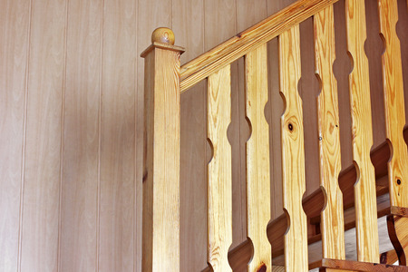 Handmade wooden staircase