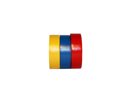 Insulating tape on a white background Banque d'images - 116628996