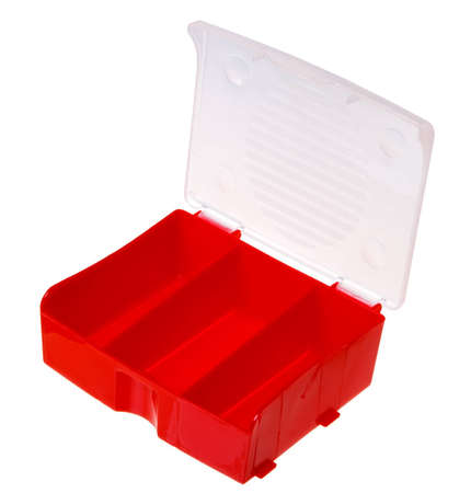 The red box for small things isolated on white background.