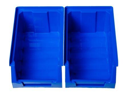 Box hardware (storage box) isolated on a white background. Stock Photo