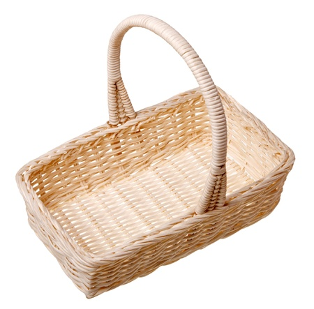 A small basket isolated on white background. Stock Photo
