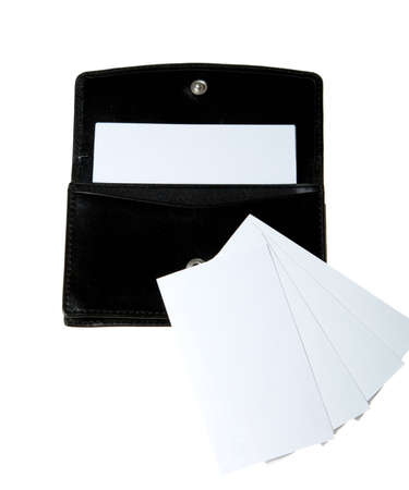 The case for business cards isolated on a white background. Stock Photo