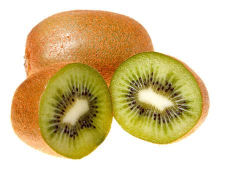 Fresh kiwi fruit isolated on a white background. photo