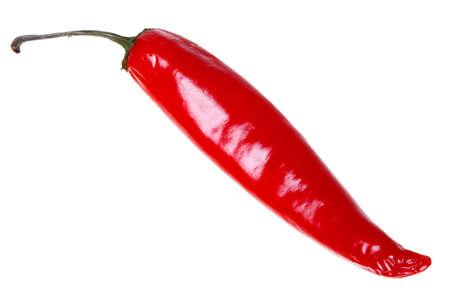 Fresh  chilli pepper isolated on white background. Stock Photo
