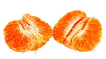 Fresh mandarin orange isolated on a white background. Stock Photo