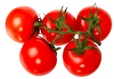 Fresh red tomatoes isolated on a white background. photo