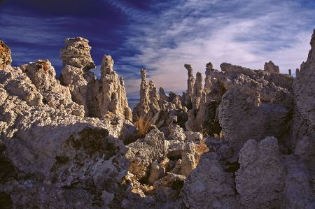 Tufa on Mono Lake - Nature is a sculptor, capable of most fantastic and intricate work... And hes capable of providing amazing background as well...