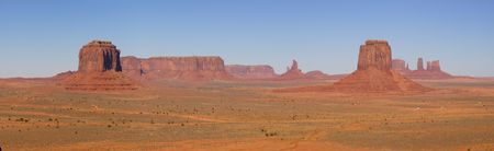 panoramics: A panorama of the Monument Valley (Navajo Nation) made on fine autumn morning - a classic Southwest view.