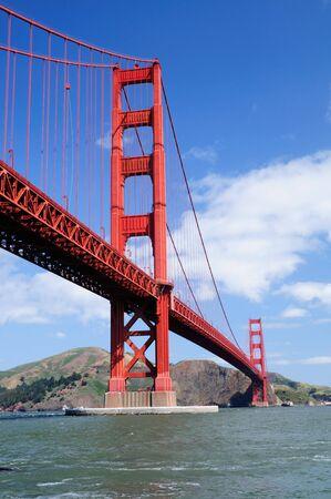 vertical orientation: Golden Gate Bridge from Fort Point - Vertical (portrait) orientation