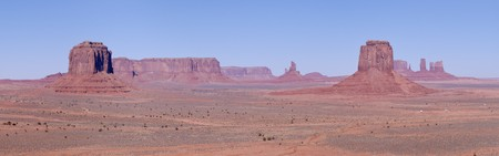 tribal park: A panorama of Monument Valley, Navajo Nation, Utah Stock Photo
