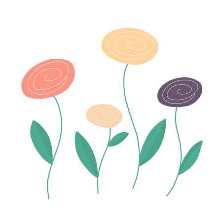 Vector flower set illustration