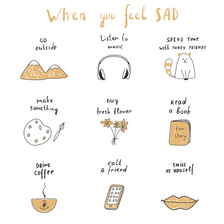 when you feel sad Illustration