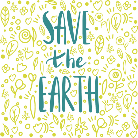 save the earth vector