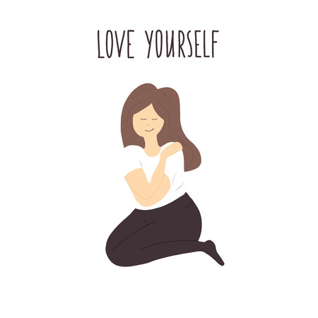 love yourself vector illustration
