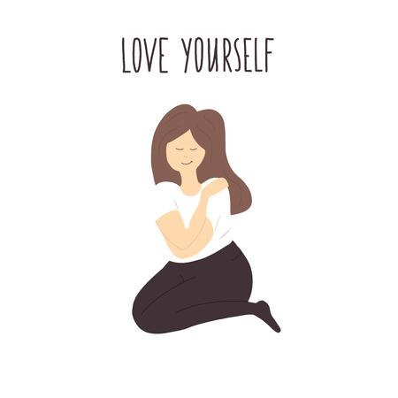 love yourself vector illustration