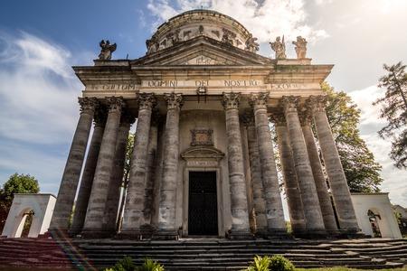 The baroque Roman Catholic Church of the Exaltation and St. Joseph in Pidhirtsi Zdjęcie Seryjne