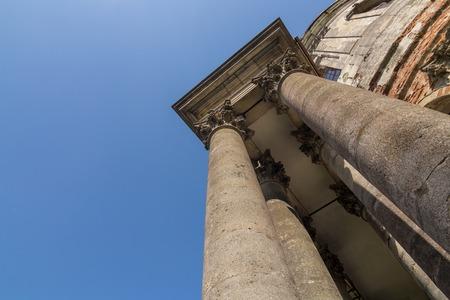 Architecture of baroque Roman Catholic Church of the Exaltation and St. Joseph Zdjęcie Seryjne