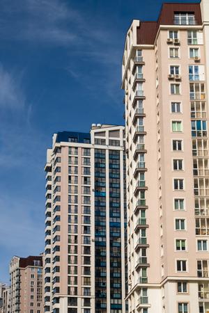 New residental multi-storey buildings in new area in Minsk