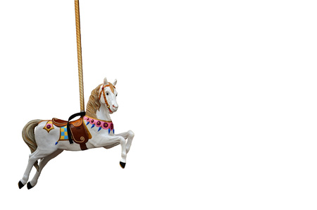 Carousel Horse on white background 免版税图像 - 108302826
